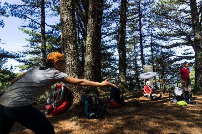 杜鵑營地玩飛盤