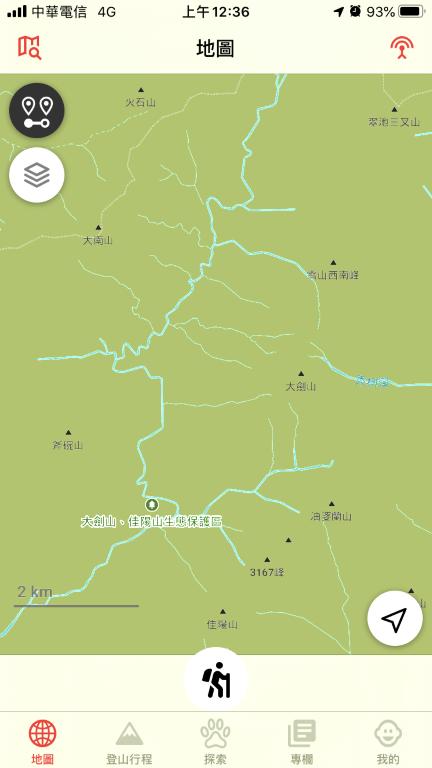 Hikingbook 地圖介面