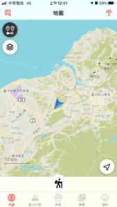 Hikingbook 地圖-自己所在導正
