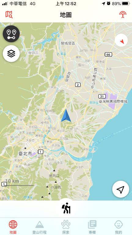 Hikingbook 地圖-自己所在