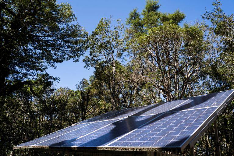 塔曼山前太陽能板